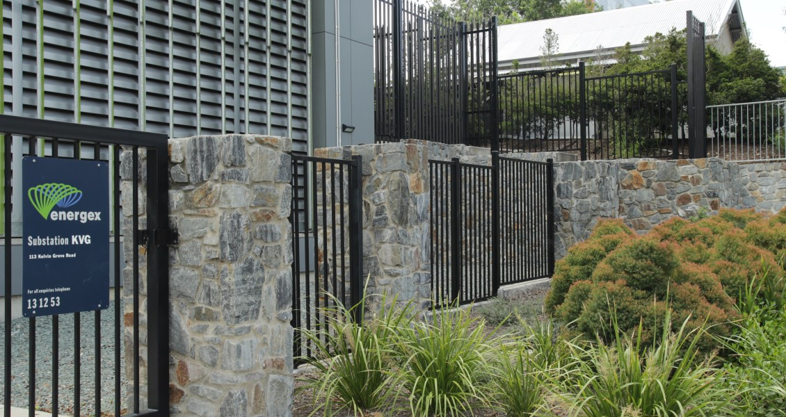 CrowdTuff® pedestrian barrier fencing installed at QLD Energex substation