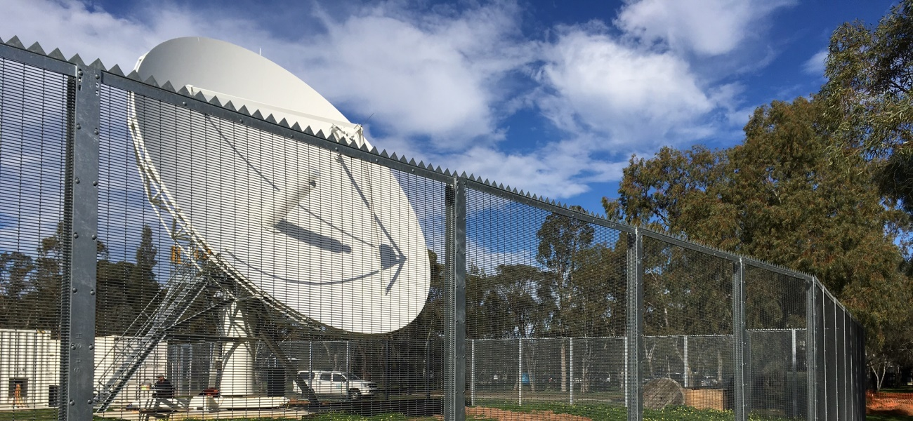 GuardForce® 358 mesh high security fencing secures a 'sensitive' communications facility