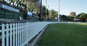 The Red Legs runaway with a new steel picket fence around Norwood Oval