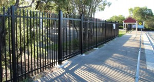 SecuraTop® fencing supplied in specialist corrosion resistant finish for near marine environment