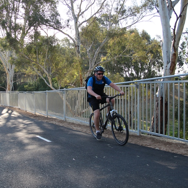 The 'bump' rail allows a cyclist moving at speed to brush against the barrier without getting their   handle bars or pedals caught in the barrier.
