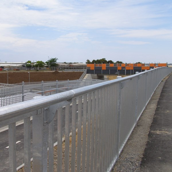 On another section of the 'Coast to Vines' bike trail fitted to 1200mm high full barrier safety   fencing.