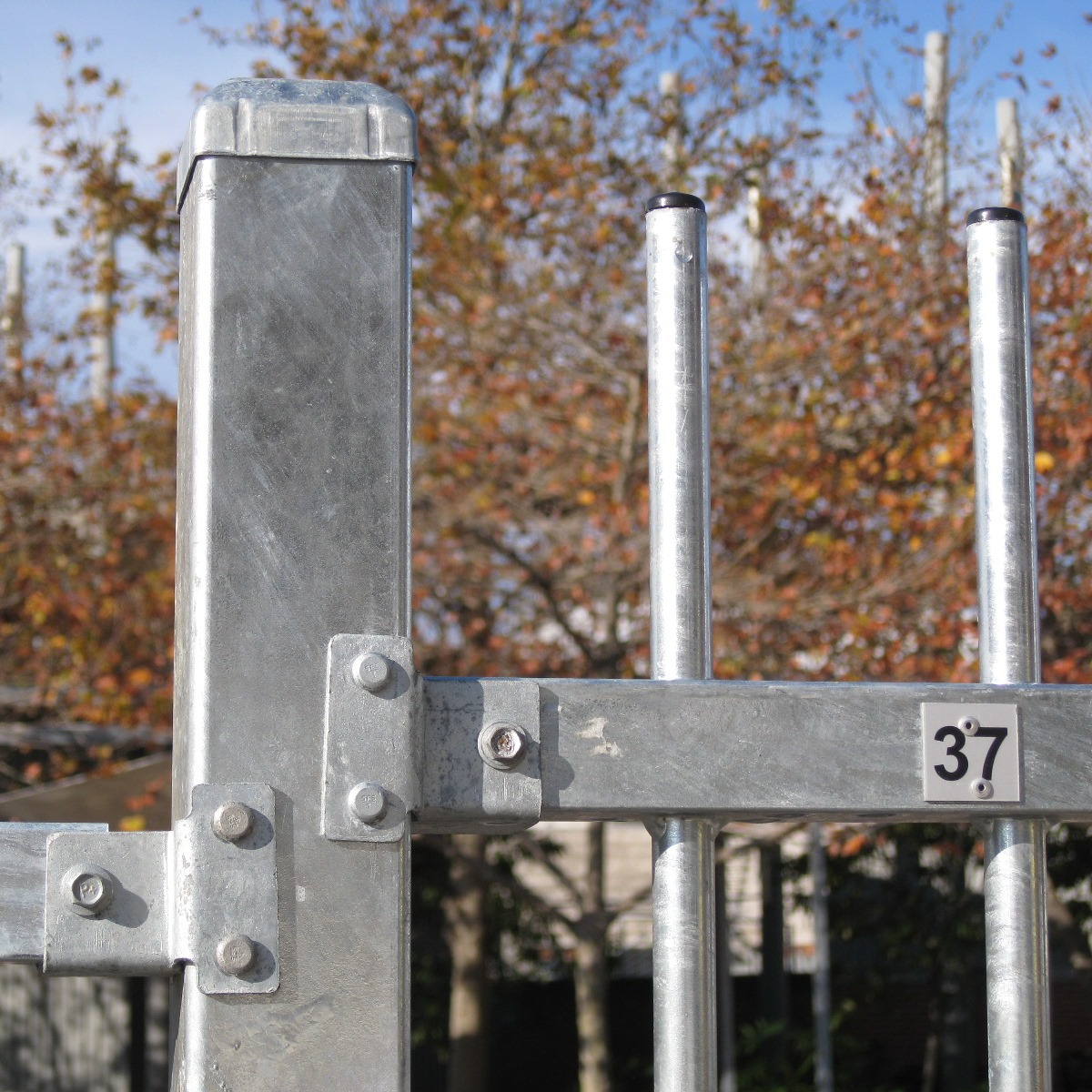 The proprietary bracket system allows for the quick and easy removal and install of the fence panel that is numbered.