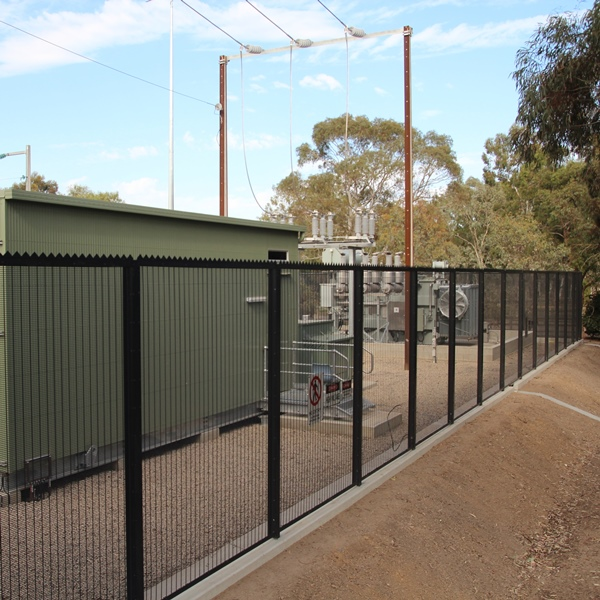 The 3 metre high fence assembly is difficult to climb and the serrated rail topping adds a   further serious deterrent and delay factor.